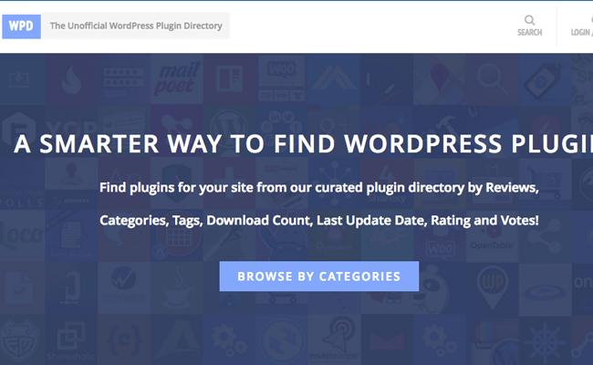 plugins não oficial WordPress