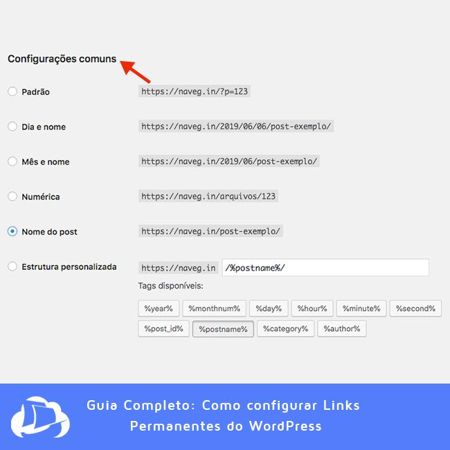 Configurações Comuns - Links Permanentes
