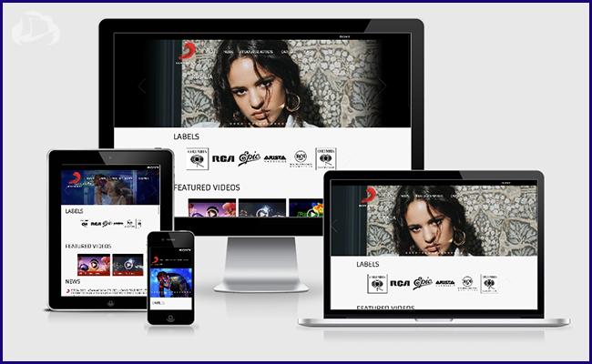Criação de Sites em WordPress: Sony Music